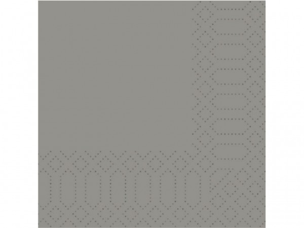 Servietten Fasana 3-lagig, 33 x 33 cm 1/4 Falz, grau