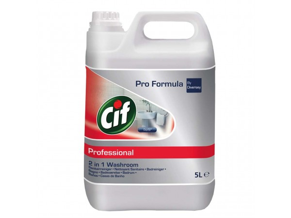 Cif Prof. Business Solutions Badreiniger 2in1, Badreiniger mit Anti-Kalk Wirkung,