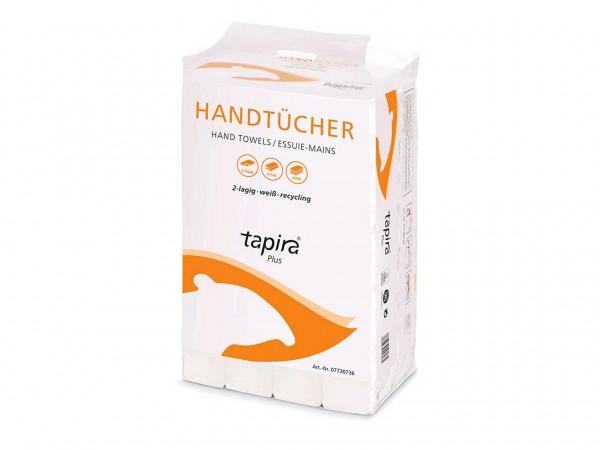 Papierhandtücher TAPIRA Plus weiss V-Falz, 100% Recycling, 2-lagig