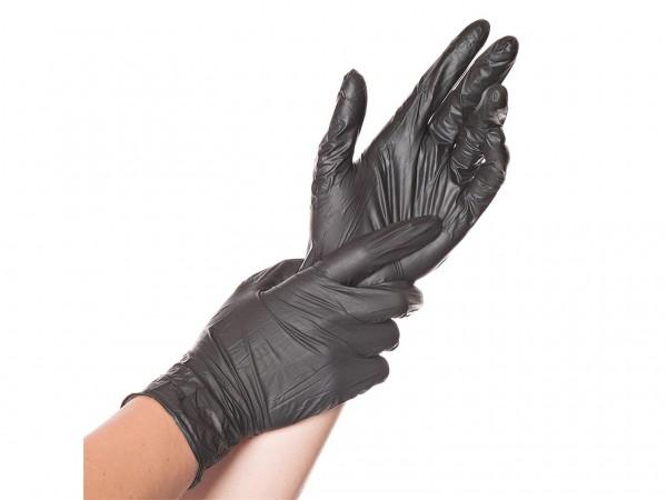 Einweghandschuhe Nitril schwarz, S, 10 x 100 Stück
