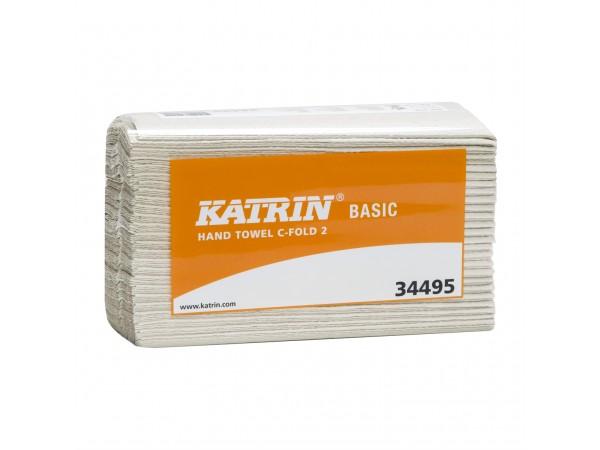 Falthandtücher Katrin Basic, naturweiss 1-lagig, 23.5 x 24 cm, W-Falz, ungebl.