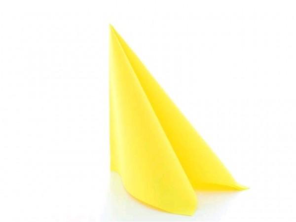 Servietten Airlaid 65 gm2, 40 x 40 cm 1/4 Falz, UNI, gelb