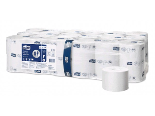 WC-Papier Tork Midi Advanced, hülsenlos Tissue, (T7), 2-lagig, 9.3 x 11.5 cm