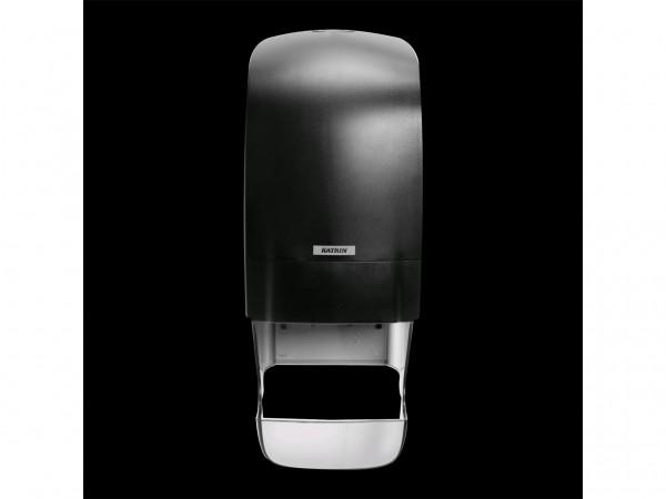 WC-Papier Spender Katrin, Kunststoff schwarz, 402 x 154 x 174 mm, für