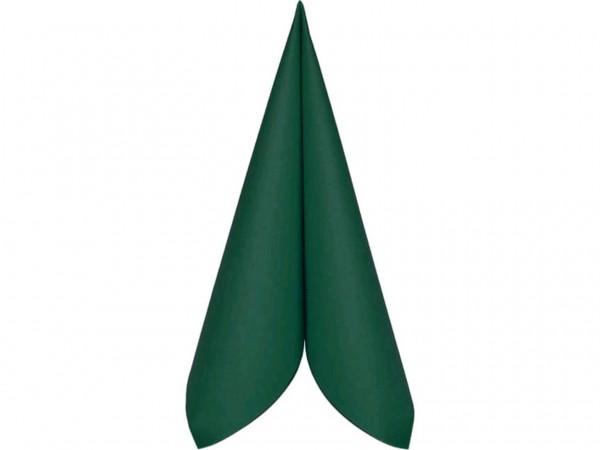 Servietten Airlaid, 40 x 40 cm, 1/4 Falz, dunkelgrün