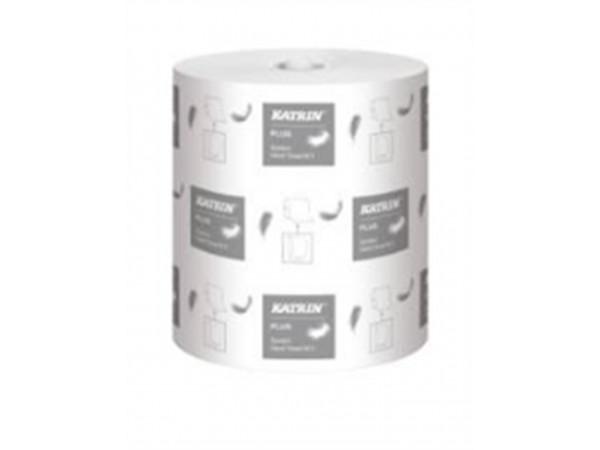 Handtuchrolle Katrin plus M2, Tissue weiss, 2-lagig, 21 cm x 130 lfm,