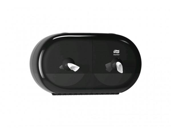 WC-Papier Spender Mini Smart One T9 Kunstsoff, schwarz, B398 x H221 x T156mm