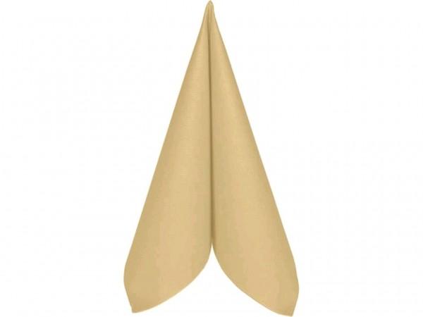 Servietten Airlaid 60 gm2, 40 x 40 cm 1/4 Falz, vanille