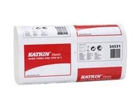 Falthandtücher Katrin Classic OneStop M3 3-lagig, 20.6 x 25 cm, Tissue weiss,