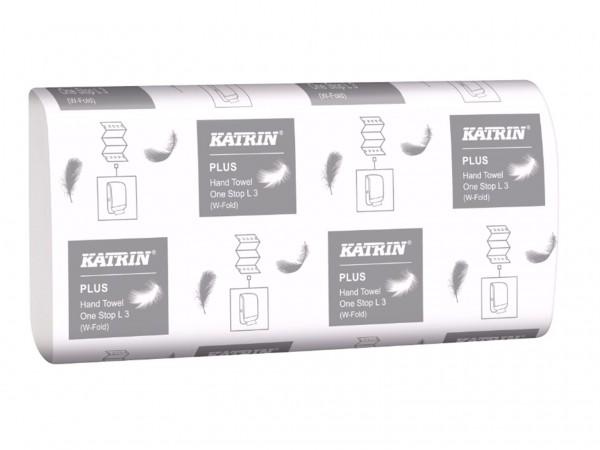 Falthandtücher Katrin Plus OneStop L2, hochweiss, 2-lagig, 23.5 x 34 cm,