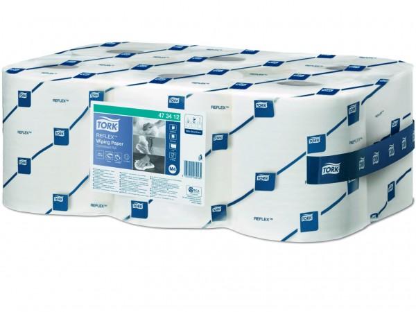 Putztuchrollen Tork Relflex TM, Tissue weiss, 1-lagig, 19.4 cm x 113.9 lfm,