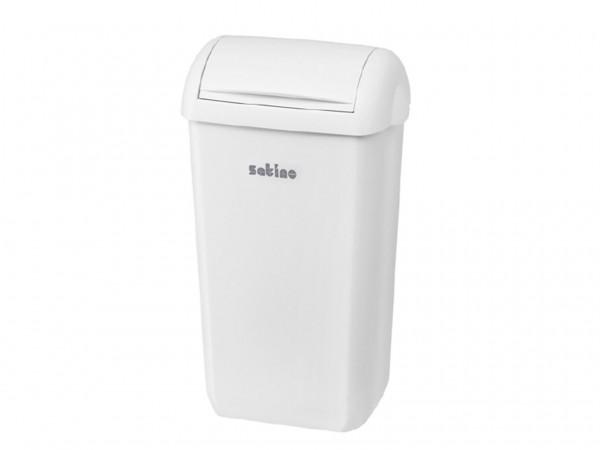 Satino Hygiene Abfalleimer, 23 Liter, H590 x B335 x T225mm, weiss