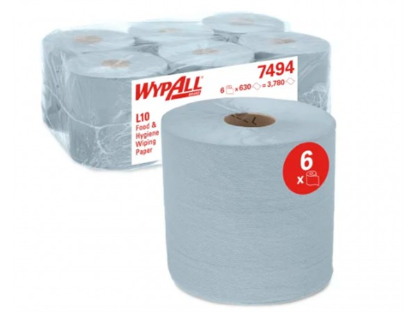 Putztuchrollen Wypall L10 weiss 1-lagig 38 X 18.5 cm, 630 Tücher