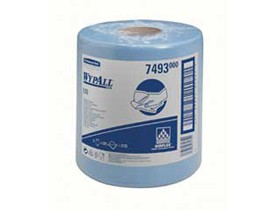 Putztuchrollen Wypall L10 1-lagig blau, 18.5 x 38 cm, aus Airflex-Material,