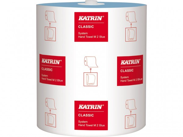Handtuchrollen Katrin Classic System blau, 2-lagig, 21cm x 130lfm, 580 Tücher
