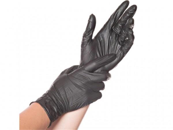 Einweghandschuhe Nitril schwarz, M, 10 x 100 Stück