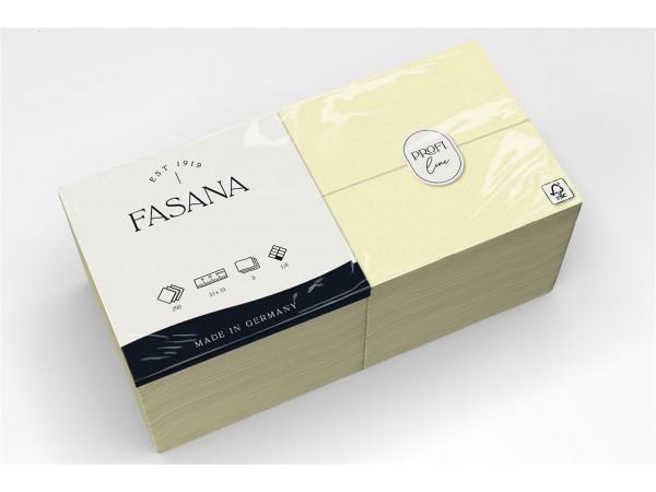 Servietten Fasana 3-lagig, 33 x 33 cm 1/8 Falz, crème (359)