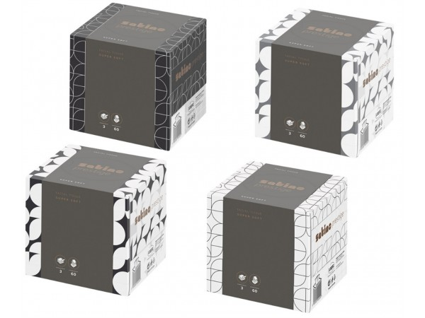 Kosmetiktücher Prestige weiss 3-lagig 100% Zellstoff, Blattgrösse 20.8 x 21 cm