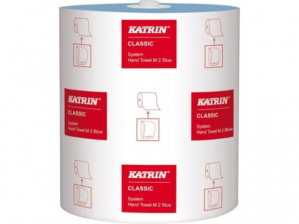 Handtuchrollen Katrin Classic System blau, 2-lagig, 21cm x 130lfm, 577 Tücher