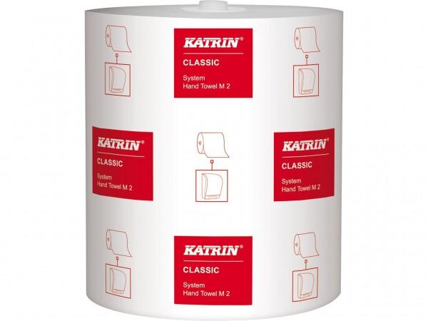 Handtuchrollen Katrin Classic System M2 Tissue weiss, 2-lagig, 21cm x 160 lfm,