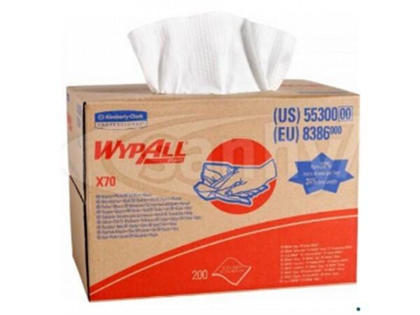 Putztücher Wypall X70 weiss interfold 28 x 42 cm geprägt BRAG Box
