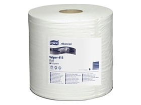 Putztuchrollen Tork Advanced 415, Tissue hochweiss, 1-lagig, 460lfm, unperforiert
