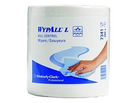 Putztuchrollen Wypall L10 weiss 1-lagig 18.5 x 38 cm, 100% Recycling 630 Tücher