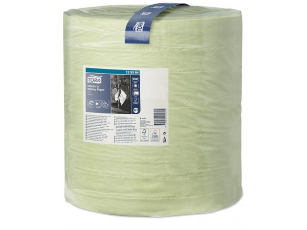 Putztuchrollen Tork, W1-Boden/Wand-Syst. 36.9 cm x 340 lfm, grün, 3-lagig