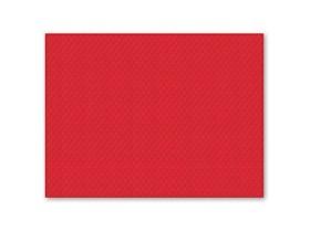 Tischset 1-lagig, 30 x 40 cm, rot geprägt, gerader Rand