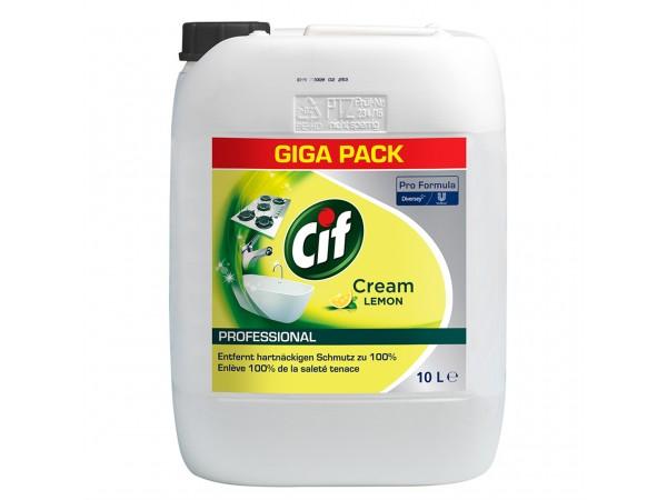 Cif Professional Crème Lemon, leistungs- fähiger Reiniger für hartnäckige und