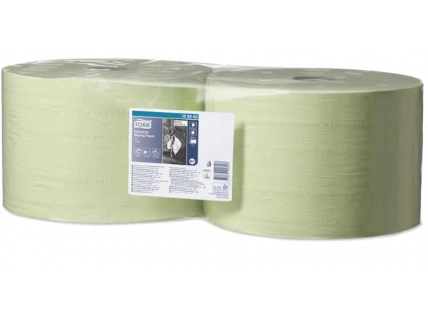 Putztuchrollen Tork, W1-Boden/Wand-Syst. 23.5 cm x 510 lfm, grün, 2-lagig