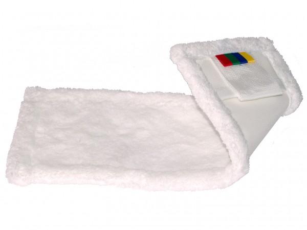 Microfasermop,3-in-1 Tasche und Lasche, 45 x 16 cm, weiss, Polyester,