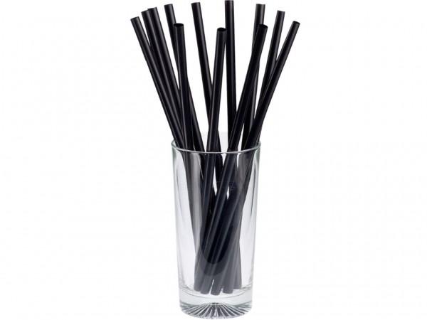BIO-Trinkhalme gerade, Jumbo ø 7 mm, Länge 135 mm, Farbe schwarz