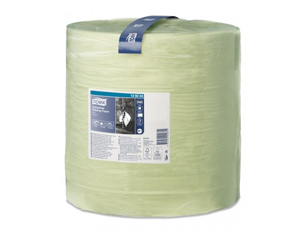 Putztuchrollen Tork, W1-Boden/Wand-Syst. 36.9 cm x 510 lfm, grün, 2-lagig