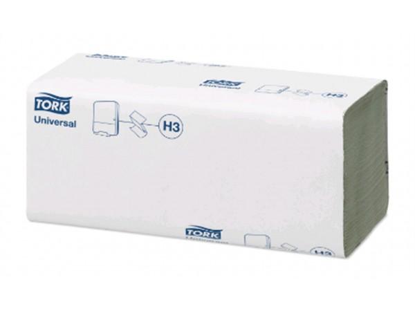 Falthandtücher Tork Universal, (H3), grün, 1-lagig Recycling, Zickzack-