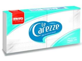 """Servietten """"Le Carezze"""", 2-lagig, 25 x 25 cm, 1/4 Falz, weiss"""