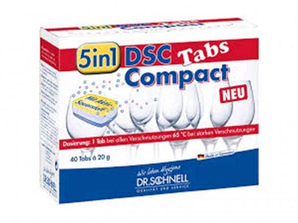 """DSC Compact Tabs """"5 in 1"""" für die Geschirrspülmaschine (Haushalt)."""