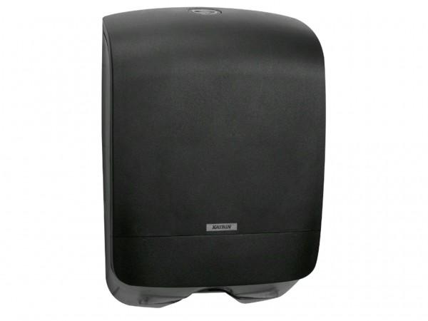 Falthandtuchspender Katrin mini 350 x 248 x 114 mm, schwarz