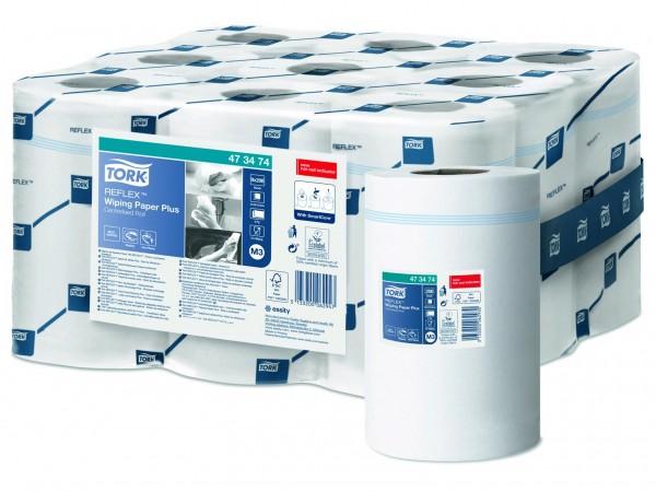 Putztuchrollen Tork Relflex TM, Tissue weiss, 2-lagig, 19.4 cm x 67 lfm,