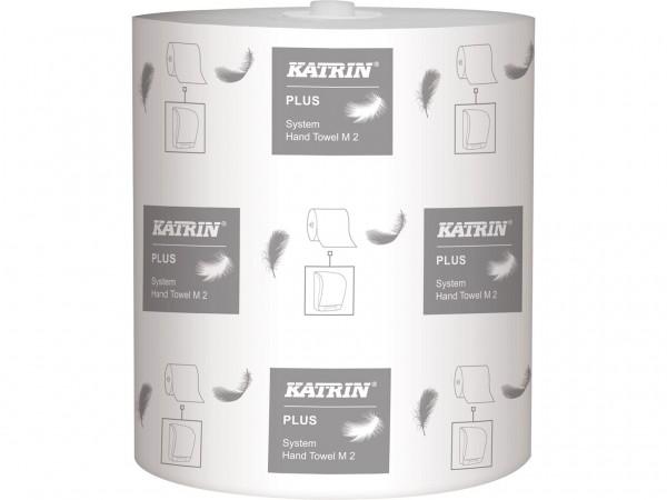 Handtuchrolle Katrin plus M2, Tissue weiss, 2-lagig, 21 cm x 100 lfm,