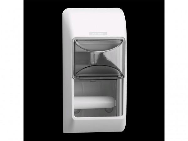 WC-Papier Spender Katrin, Kunststoff weiss, 300 x 145 x 145 mm, für
