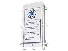 Hygienebeutel gelocht ungeschnürt 16 x 28 cm, Kraftpapier weiss 40 gm2