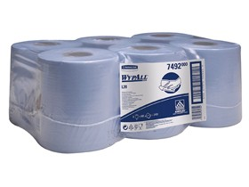 Putztuchrollen Wypall L20 blau 1-lagig 18.5 x 38 cm, 100% Zellstoff, 400 Tücher