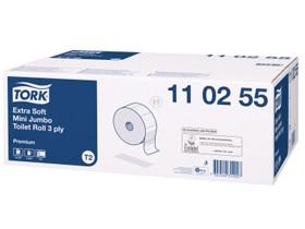 WC-Papier Tork Mini, Tissue hochweiss (T2), 3-lagig, 600 Coupons (9.7x20 cm),