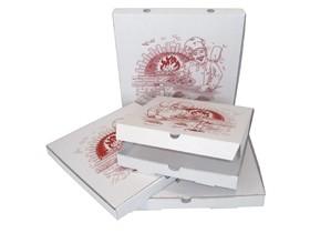 Pizzakarton 26 x 26 x 3 cm Qualität Kraft 1209, Neutraldruck