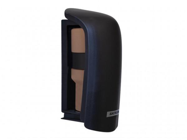Spender Lufterfrischer Katrin schwarz Kunststoff, B 71 x H 165 x T 75