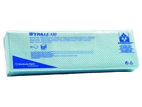 Putztücher Wypall X80 blau 35 x 42 cm geprägt Interfold