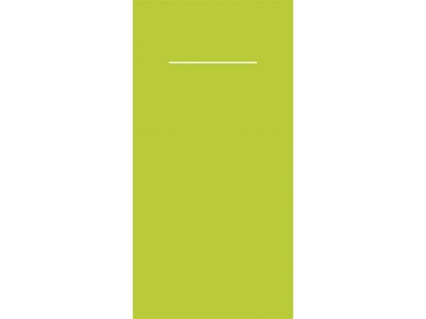 Bestecktasche kiwi, 40 x 40 cm, 1/8, 4 x 75 Stück
